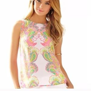 Lilly Pulitzer Iona silk shell